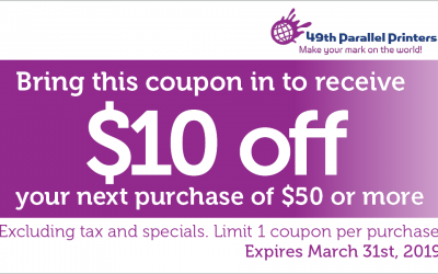 March Special Offer – $10 off!