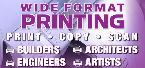 Wide printing format